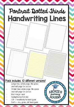 Dotted Thirds Handwriting Lines