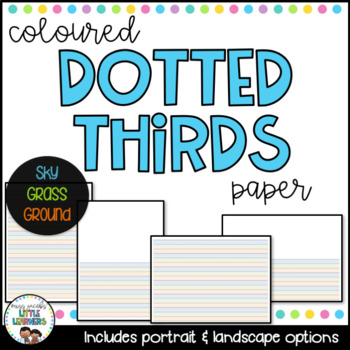 Dotted Thirds Papers: {Coloured Lines}