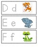 Dotted Traceable Letter Cards with Graphics