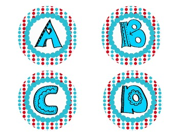 Dotted Word Wall Cards ~ Alphabet ~ Square & Circle Shaped