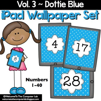 Dottie Blue iPad Wallpaper Set
