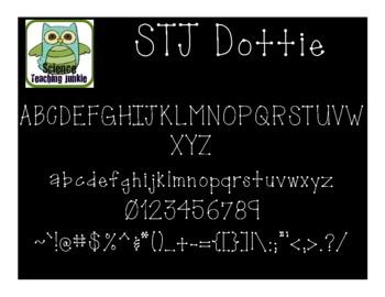 Dottie - Science Teaching Junkie Font Series