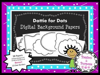 Dottie for Dots - Digital Background Papers & Bonus Borders - Freebie!