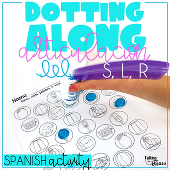 Spanish Speech Therapy Articulation Activity with S L and R words