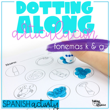 Spanish Speech Therapy Articulation Activities for K G words