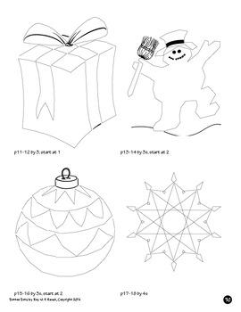 Skip Count by 1, 2, 3, 4, 5, 6, 7, 8, 9, 10, Christmas Dot to Dot Math