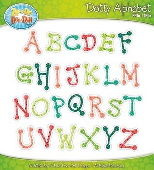 Dotty Alphabet {Zip-A-Dee-Doo-Dah Designs}