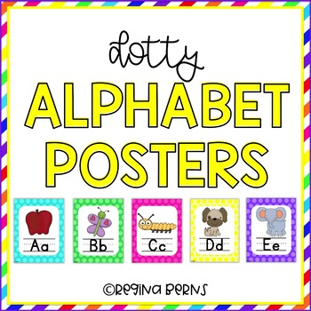 Dotty Alphabet Posters