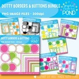 Dotty Borders and Buttons Bundle