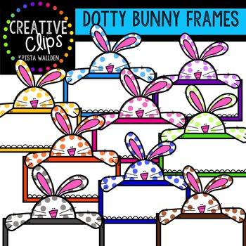 Dotty Bunny Frames {Creative Clips Digital Clipart}