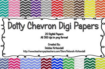 Dotty Chevron Digit Papers Set of 20