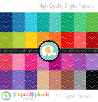 Dotty Chevron Digital Papers