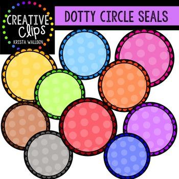Dotty Circle Seals {Creative Clips Digital Clipart}