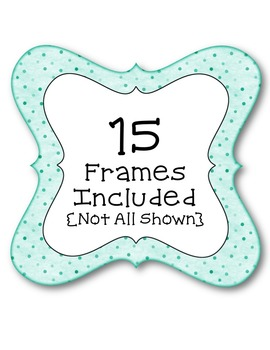 Dotty Dots Frames #2 Clip Art ~ Polka Dots ~ CU OK ~ Borders