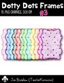 Dotty Dots Frames #3 Clip Art ~ Polka Dots ~ CU OK ~ Borders
