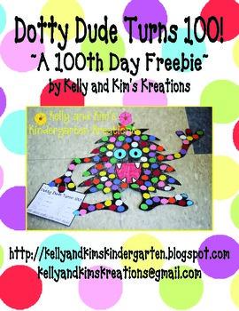 Dotty Dude Turns 100! ~A 100th Day Freebie~