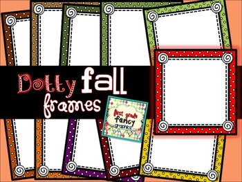 Dotty Fall Frames {for Commercial and/or Personal Use}