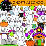Dotty Ghosts at School {Halloween Clipart}