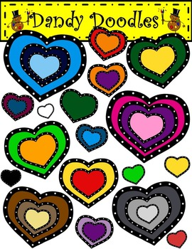 Dotty Hearts FREEBIE Clip Art by Dandy Doodles
