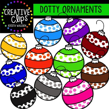 Dotty Ornaments {Creative Clips Digital Clipart}
