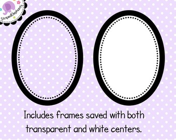 Dotty Oval Digital Frames