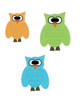 Dotty Over Owls Clip Art