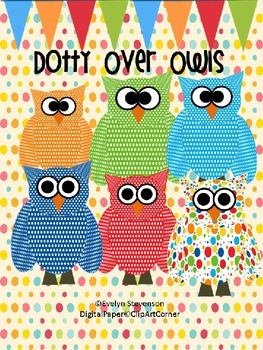 Dotty Over Owls Clip Art