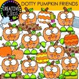 Dotty Pumpkin Clipart Friends {Fall Clipart}