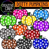 {FREE} Dotty Pumpkins: Autumn Clipart {Creative Clips Clipart}