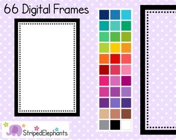 Dotty Rectangle Digital Frames