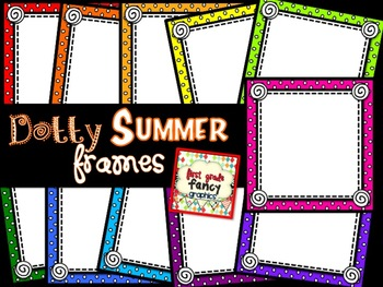Dotty Summer Frames {for Commercial and/or Personal Use}