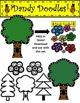 Dotty Trees Clip Art by Dandy Doodles
