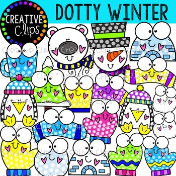 Dotty Winter Clipart {Creative Clips Clipart}