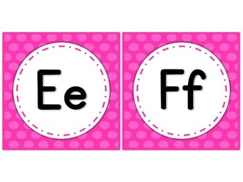 Dotty Word Wall Letters