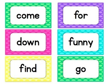 Dotty Word Wall Letters & Dolch Words BUNDLE!