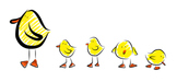 Dotty and friends Clip Art - Ducks and Bunnies