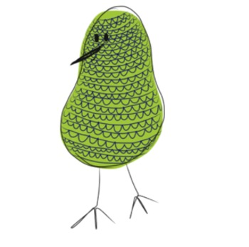 Dotty and friends Colourful Bird  Clipart