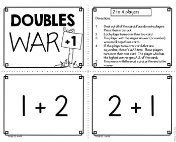 Double + 1 Facts War Math Game