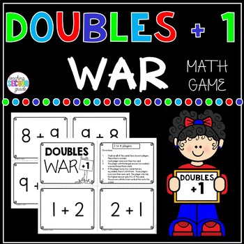 Doubles plus 1 Facts War Math Game