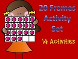 Double 10 Frame Cards and Activity Set