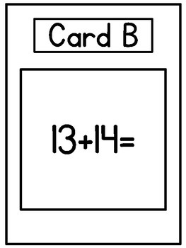 Double Addition Math Scoot (No Regrouping) Math Activities