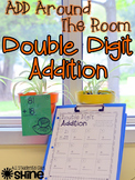 Double Digit Addition - Add Around The Room Activity