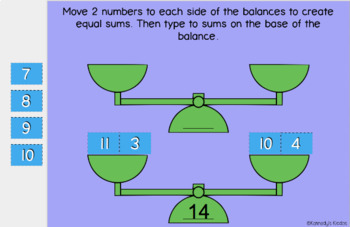 Double Balancing Numbers (sums 11-20) (Great for Google Classroom!)