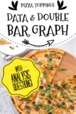 Double Bar Graph, Data Collection & Analysis Questions: Favorite pizza topping
