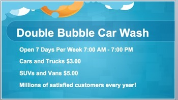 Double Bubble Car Wash: Beginning of the Year Problem Solving Math Activity (PP)