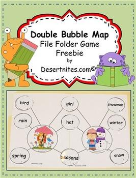 Double Bubble Map File Folder Game Freebie