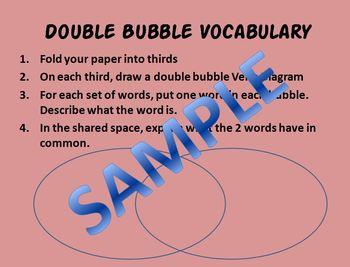 Double Bubble Vocabulary Comparisons - Zoology Invertebrate