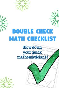 Double Check Math Work Checklist