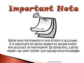 Double Checking for Accurate Information Reading Strategy PowerPoint