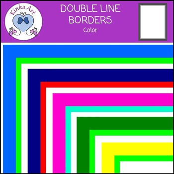 Double Colored Line Borders FREEBIE
